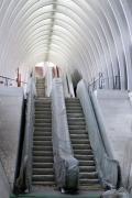 'Calatrava meets Christo', Liège-Guillemins railway station (architect Santiago Calatrava), Liège, Belgium