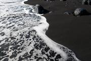 Lava beach near Las Indias. La palma, Canary islands