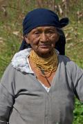 Woman in Peguche, Andes, Ecuador, July 2010