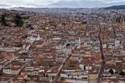 Quito, old town view form El Panecillo, Ecuador, June 2010