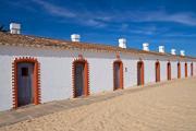 Fisherman's house of former tuna fishermen, Tavira island, Algarve, Portugal, October 2010