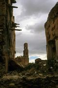 Belchite, the remains of the old village destroyed during the Spanish Civil war (1937), Aragon, Spain