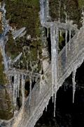 Icicles, water mill Wijlre, South-Limburg, The Netherlands