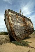 Shipwreck at Portbail, Normandy, France