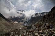 Arolla Glacier, Val d' Arolla, Valais, Switserland