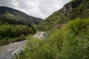 Tarn valley, view near Blajoux, Cévennes, France, April 2017